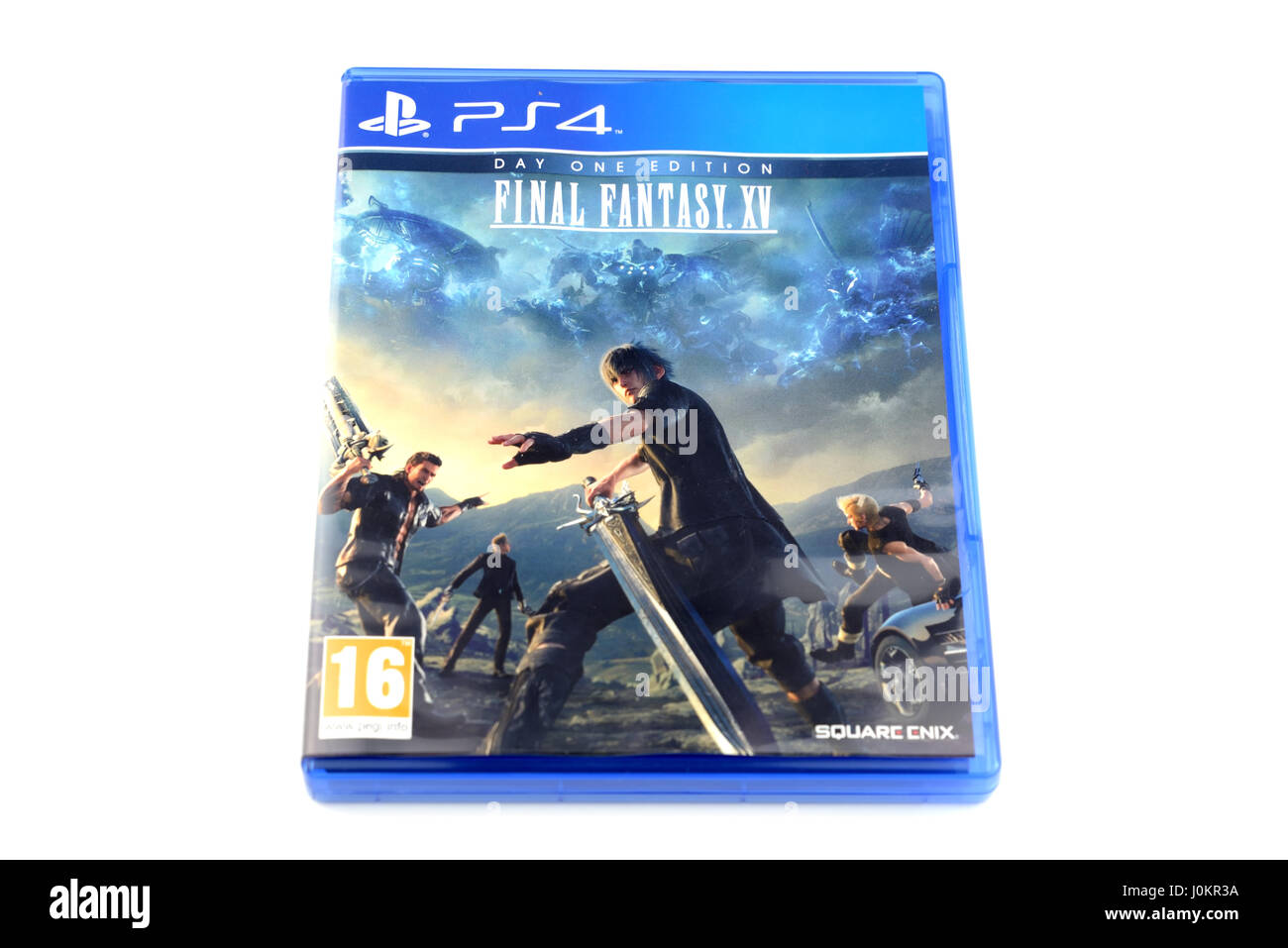 The famous video game Final Fantasy XV, released by Square Enix, for Playstation 4 devices - Stock Image