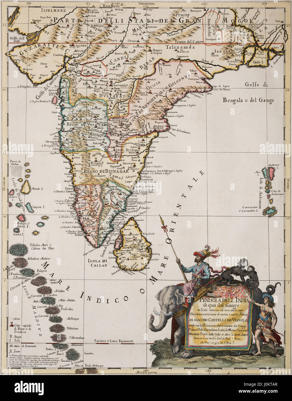 Old Map India Stock Photos Old Map India Stock Images Alamy