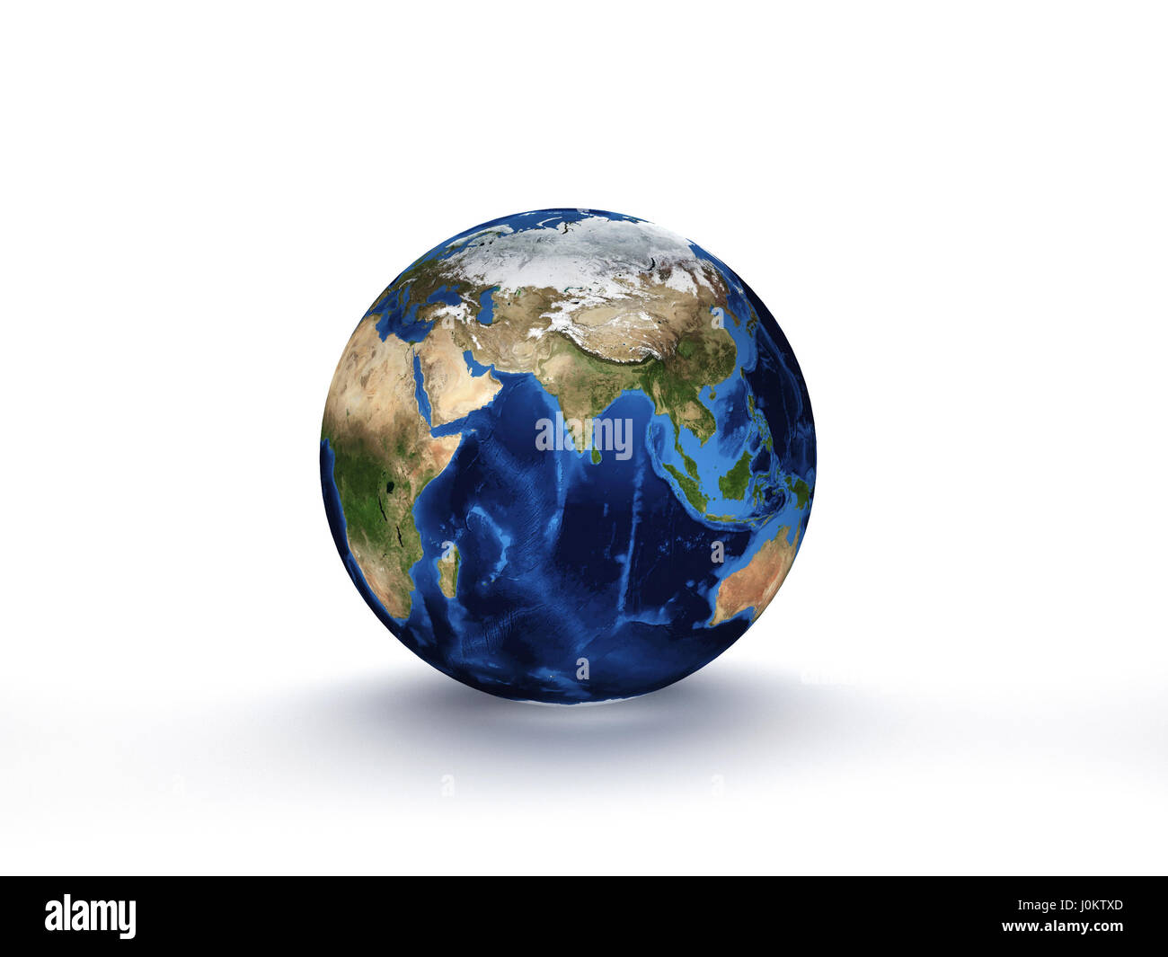 3D Rendering Planet Earth, globe model isolated on white Elements of this image furnished by NASA - Stock Image