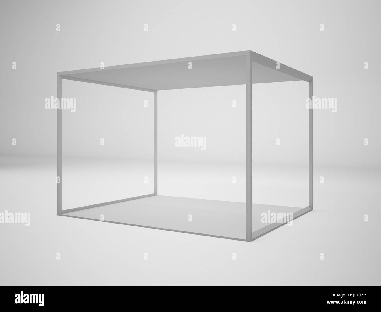 Exhibition Booth Mockup : D rendering white modern trade exhibition booth illustration