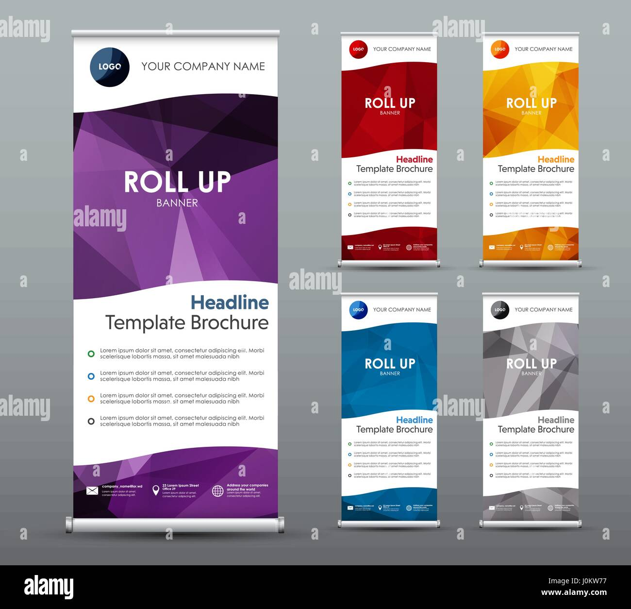 Set Of Vertical Roll Up Banners Templates Vertical Brochures With