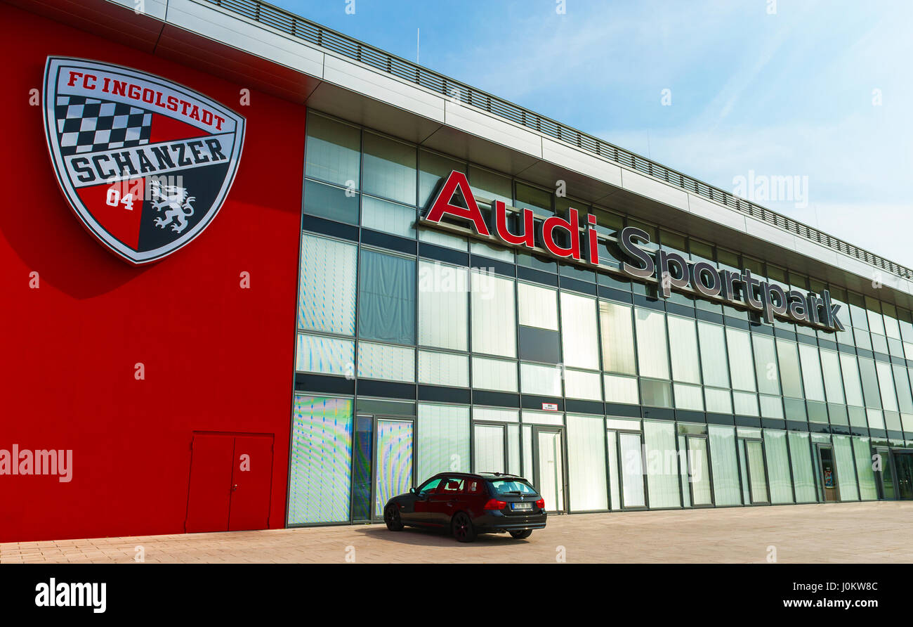 Audi Park stadium - the official arena of FC Ingolstadt Stock Photo