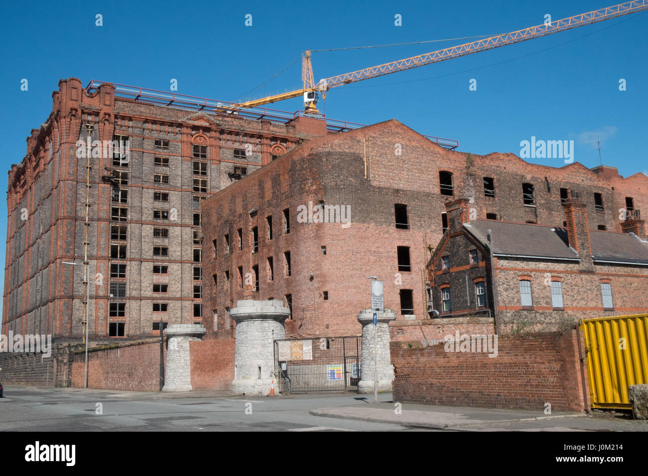 Stanley Dock,brick,warehouse,world's largest,brick,building,Liverpool,Merseyside,England,UNESCO,World Heritage City,City,North,England,English,UK. Stock Photo
