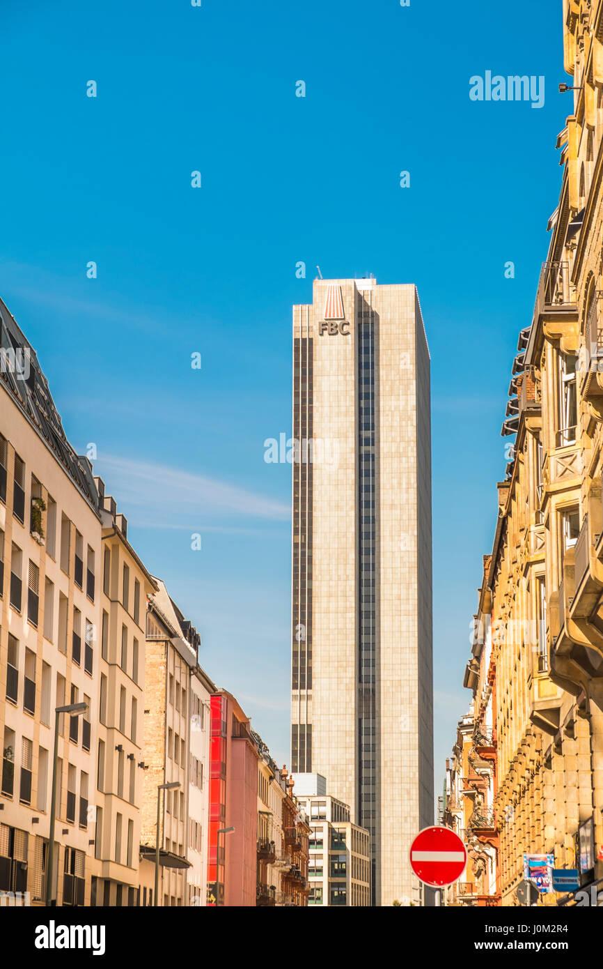 fbc tower, frankfurter buero center, - Stock Image
