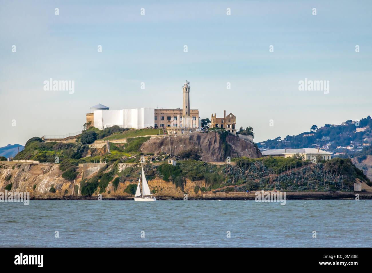 Alcatraz Island - San Francisco, California, USA - Stock Image