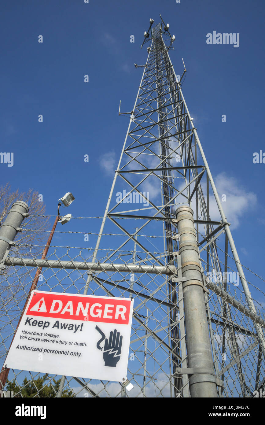 Gainesville Regional Utilities cell tower tower in Gainesville, Florida. - Stock Image