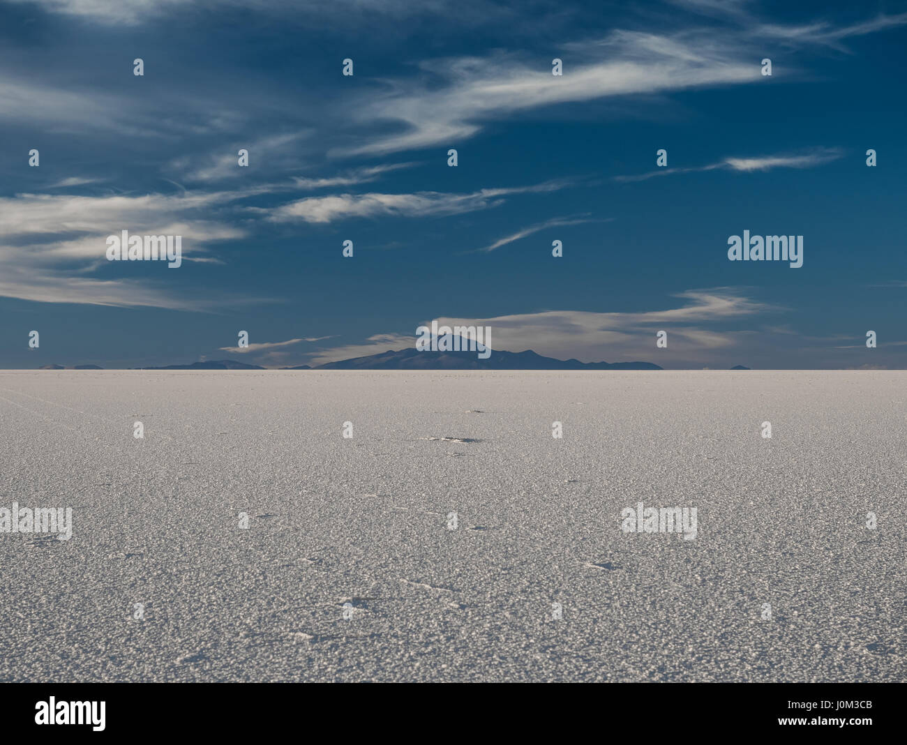 Mount Tunupa, a dormant volcano in the Potosi Department of southwestern Bolivia, stands on the northern side of - Stock Image