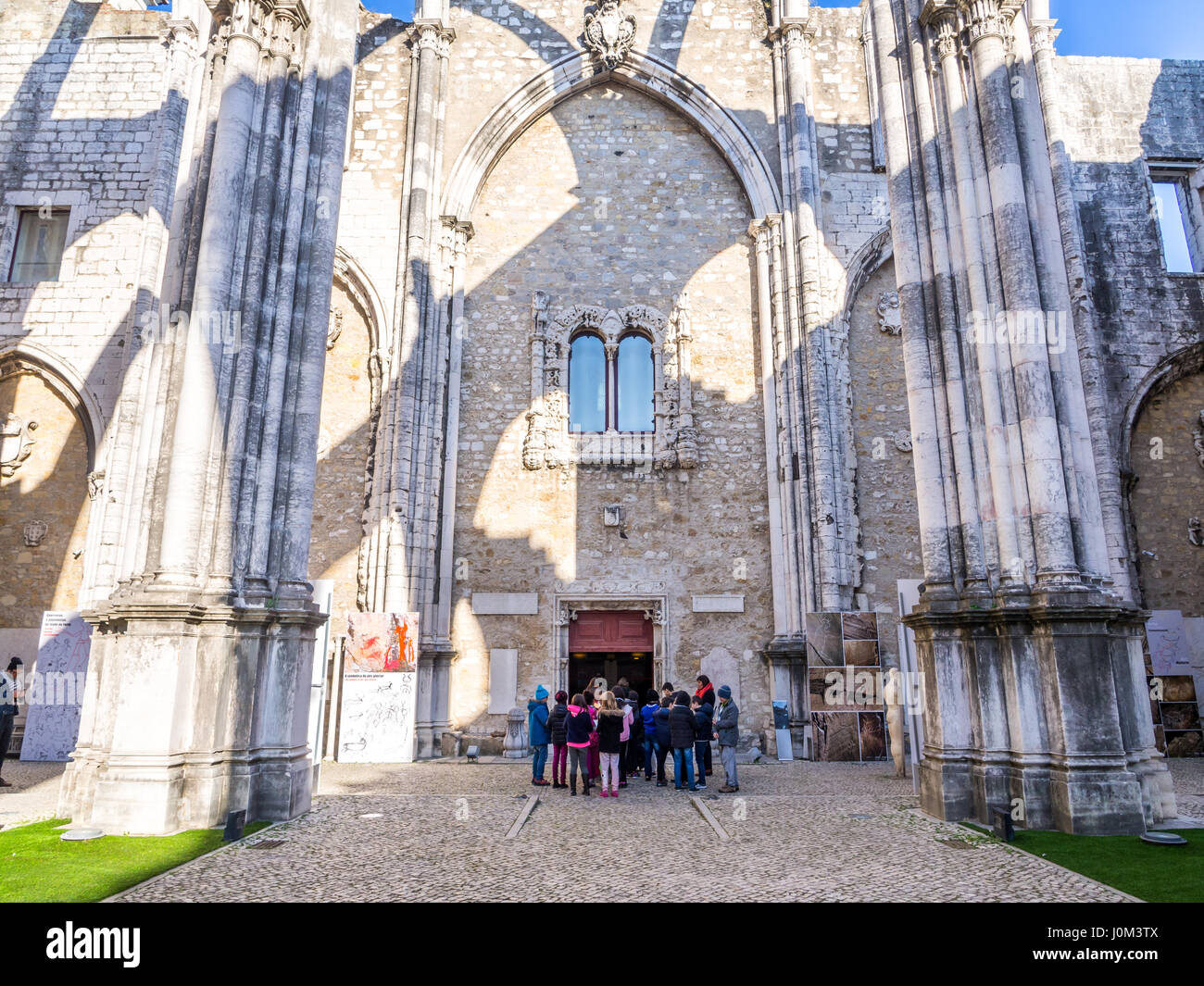 LISBON, PORTUGAL - JANUARY 19, 2017: Convent of Our Lady of Mount Carmel (Portuguese: Convento da Ordem do Carmo) - Stock Image