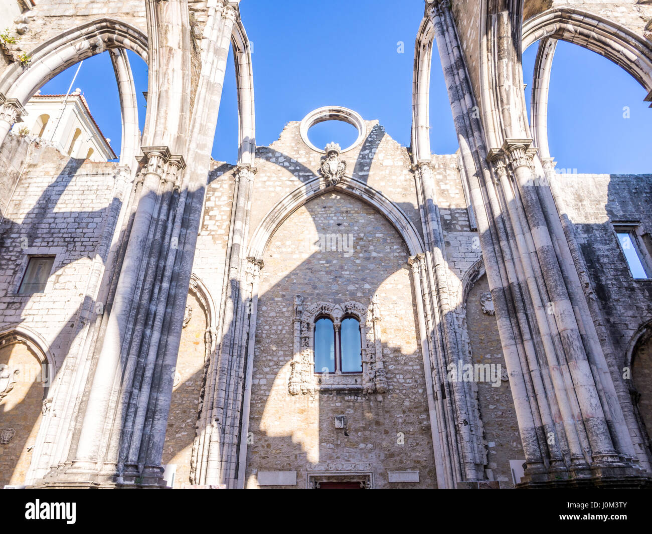Convent of Our Lady of Mount Carmel (Portuguese: Convento da Ordem do Carmo) in Lisbon, Portugal - Stock Image