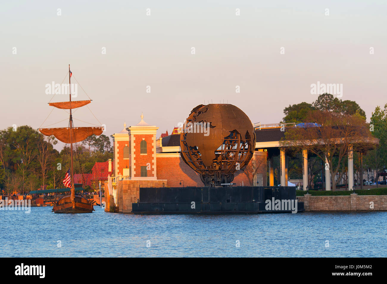 Epcot Illuminations Earth Globe, Disney World, Orlando Florida - Stock Image