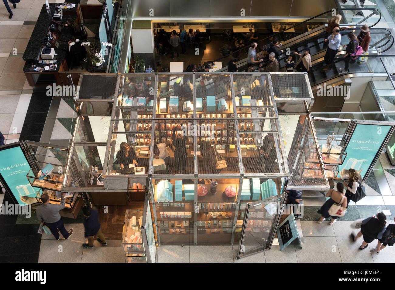 Time Warner Center Atrium Interior , NYC Stock Photo