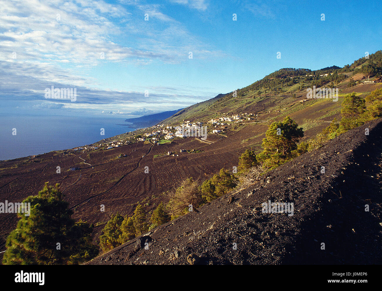 Overview from Las Indias viewpoint. La Palma island, Canary Islands, Spain. Stock Photo