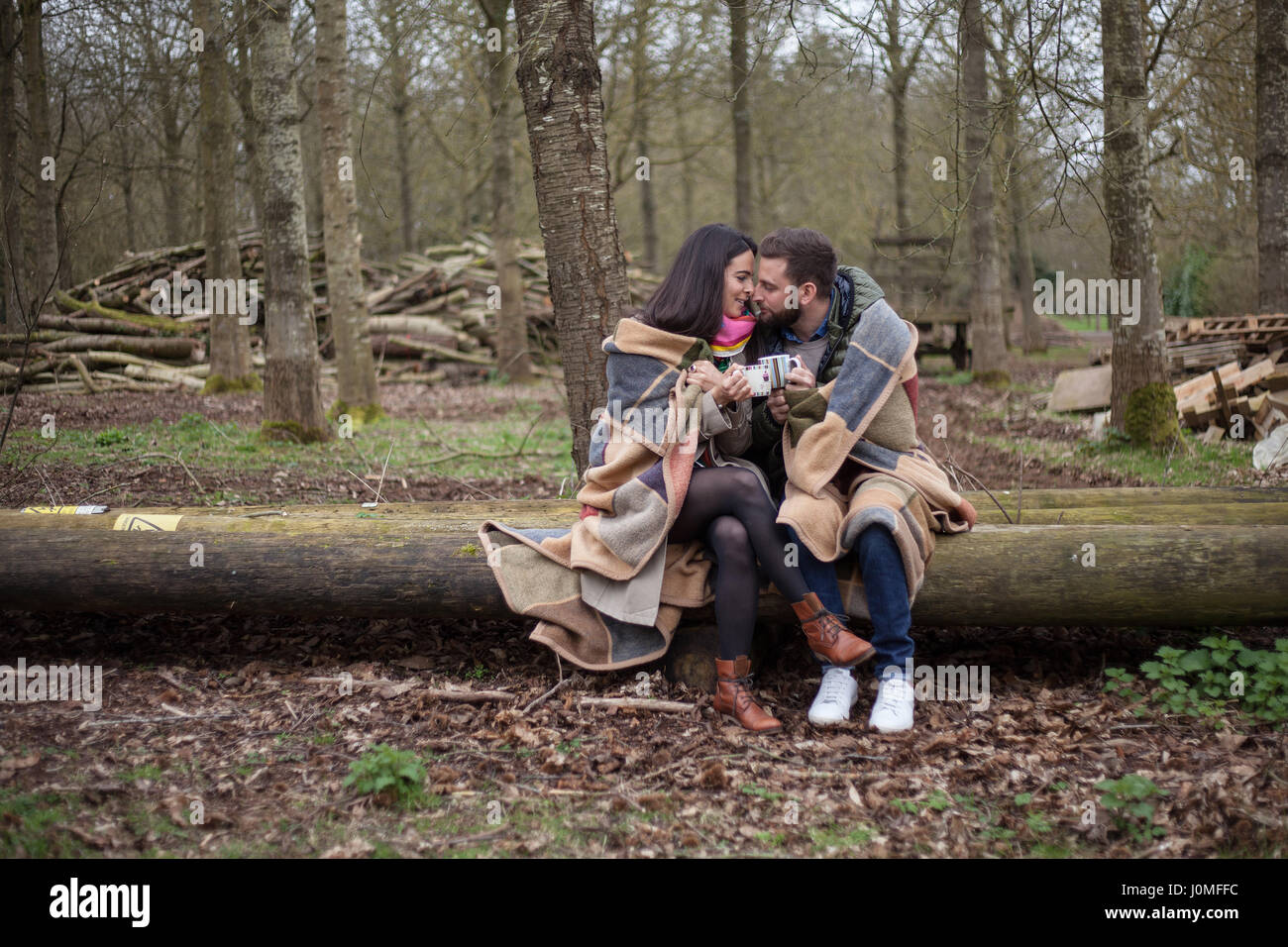 Love, Romance and Hygge - Stock Image