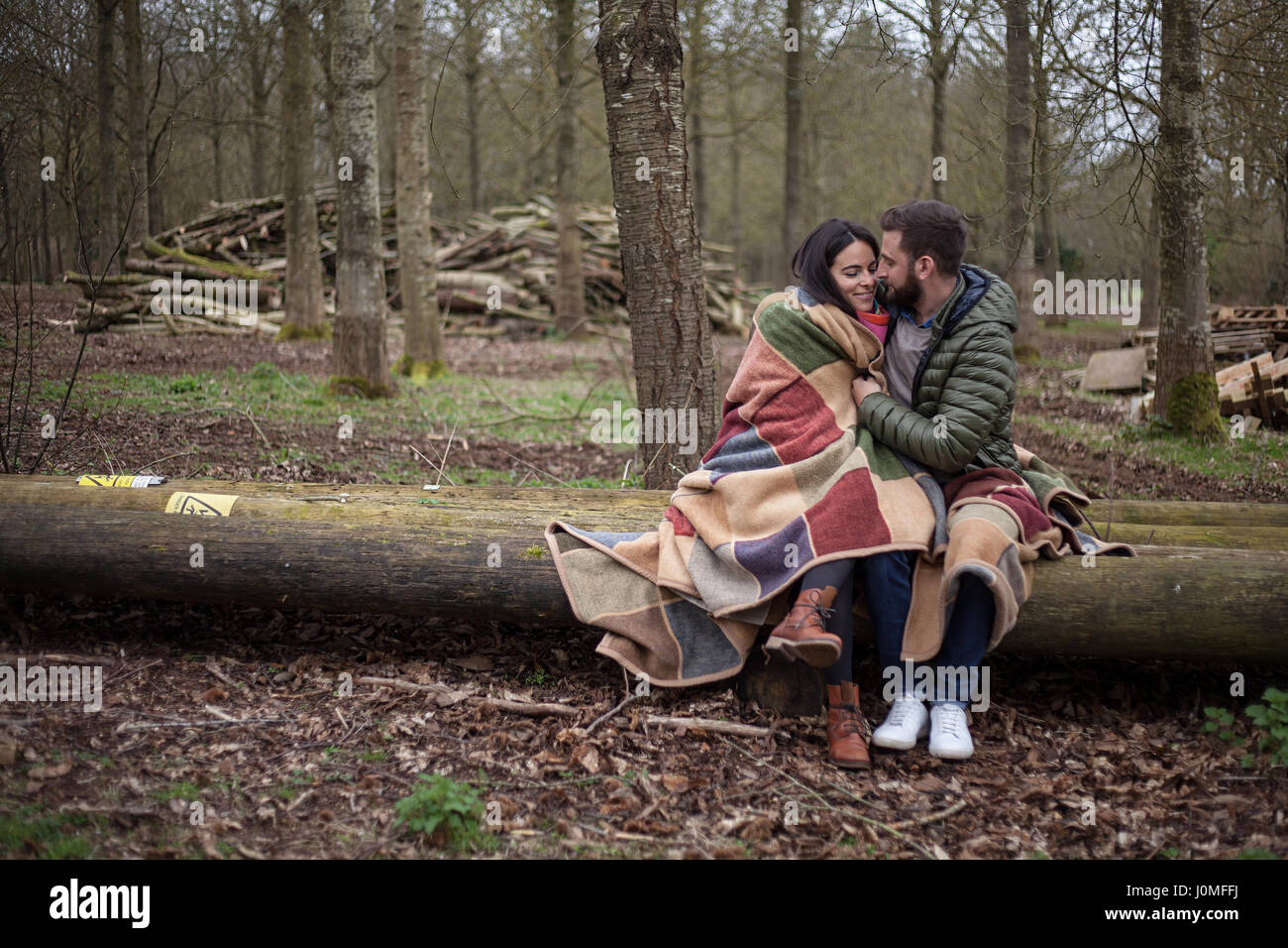 Hygge, couple in love - Stock Image