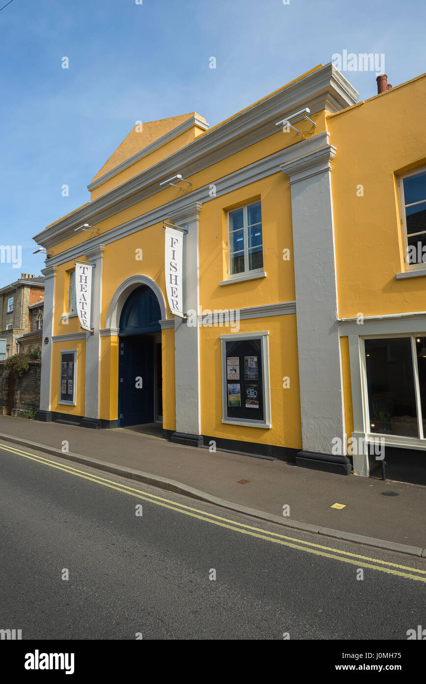 Bungay Suffolk, the Fisher Theatre in the centre of the Suffolk town of Bungay, UK. - Stock Image
