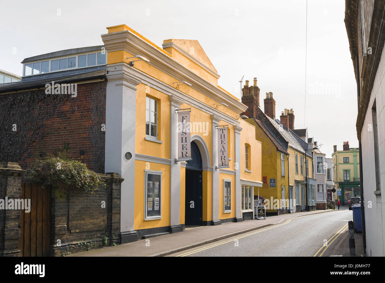 Bungay Suffolk UK, the Fisher Theatre in the Suffolk town of Bungay, England - Stock Image