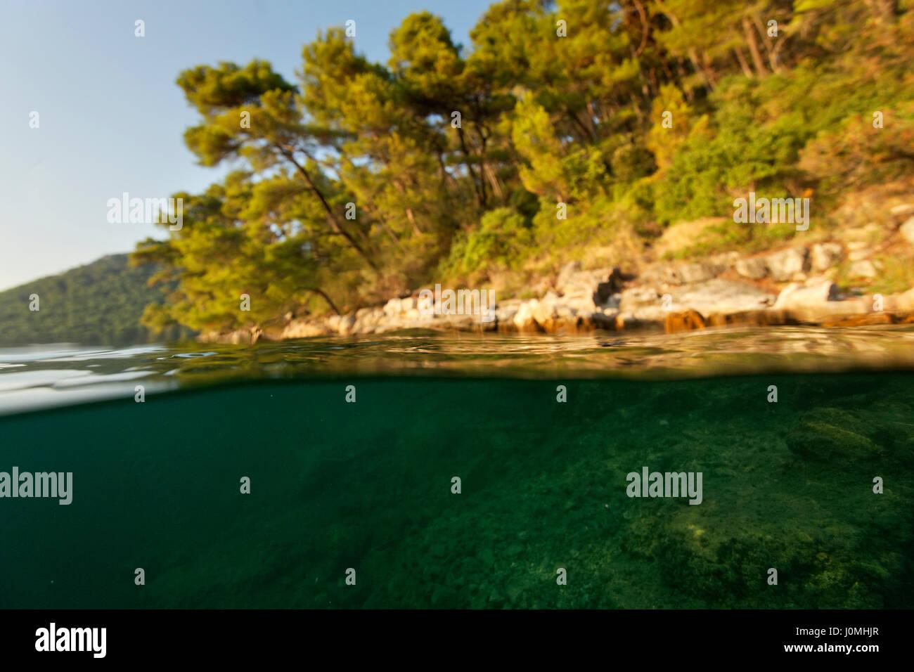 Malo jezero, Mljet - Stock Image