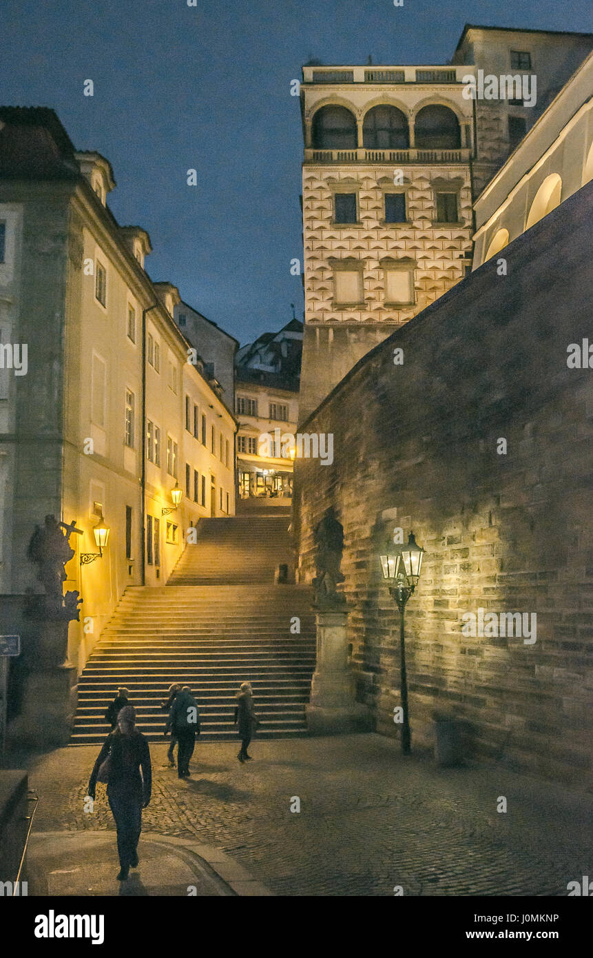 The Schwarzenberg Palace is an inherent part of the Prague Castle panorama. It is a significant Early Renaissance - Stock Image