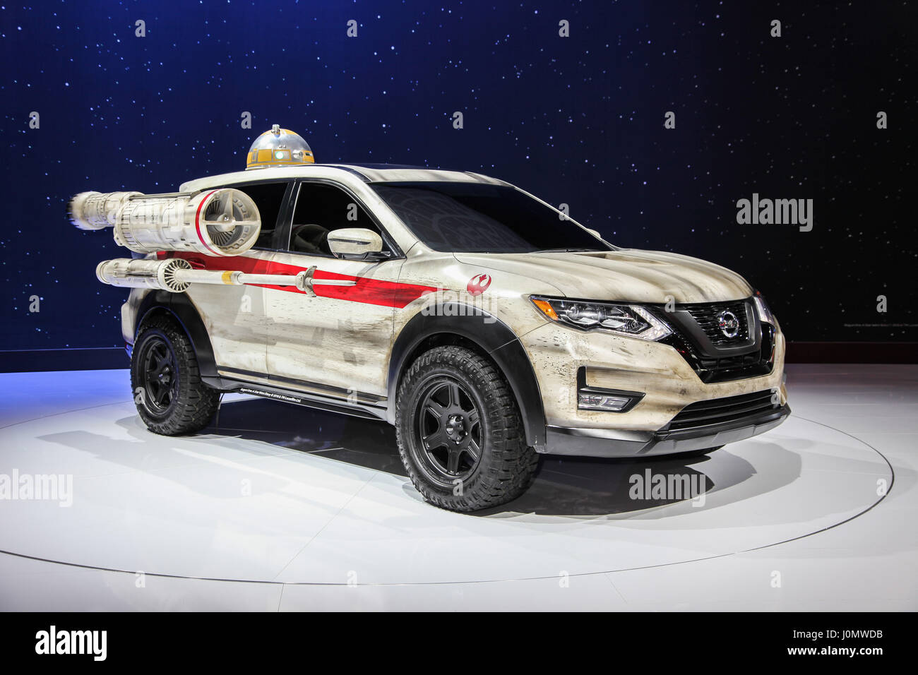 Nissan Rogue One A Star Wars Story Shown At The New York Stock