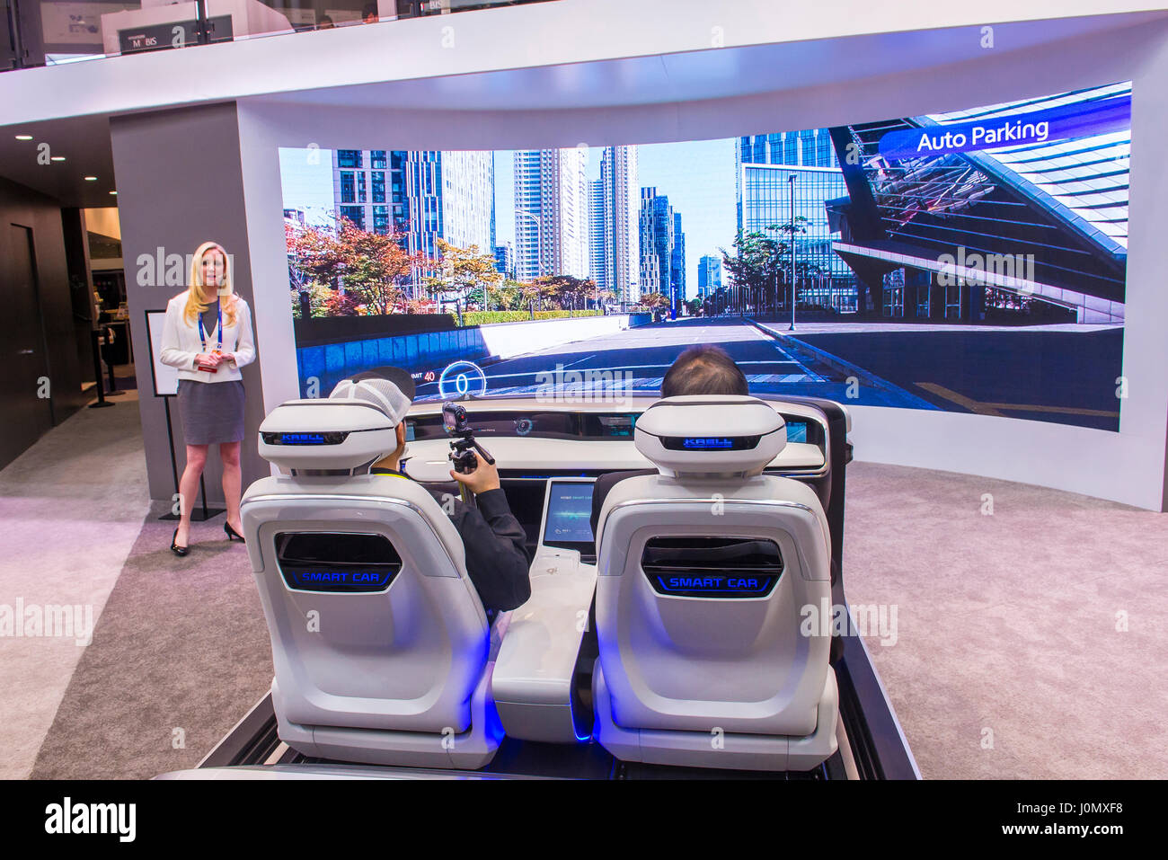 The Hyundai Mobis Concept Car Simulator At The Ces Show In