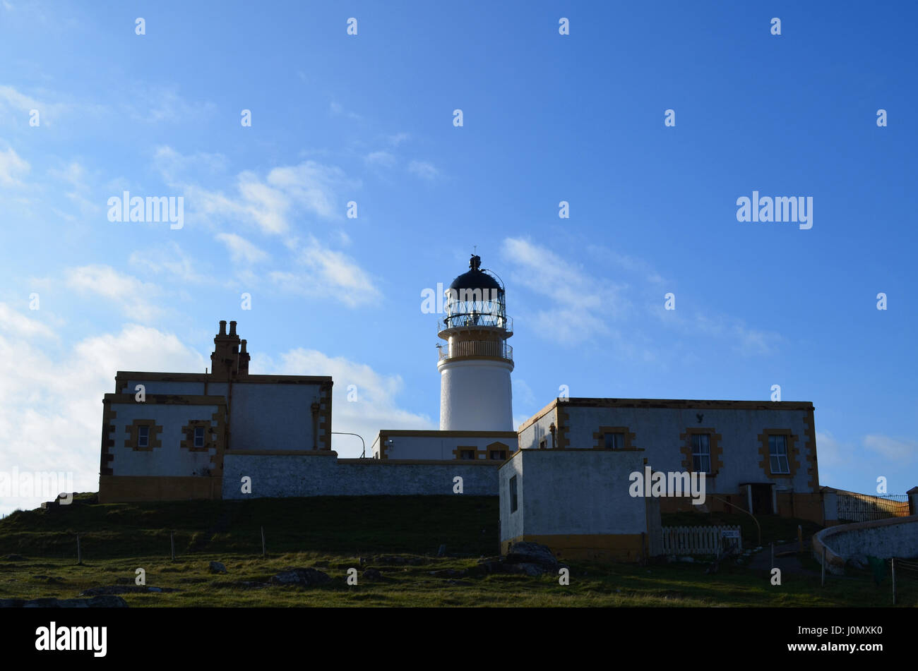 Isle of Skye's most westerly point with Neist Point lighthouse. - Stock Image