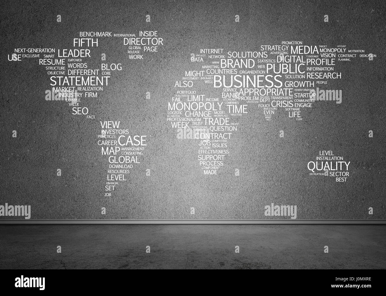 World map in typography stock photo 138143026 alamy world map in typography gumiabroncs Choice Image