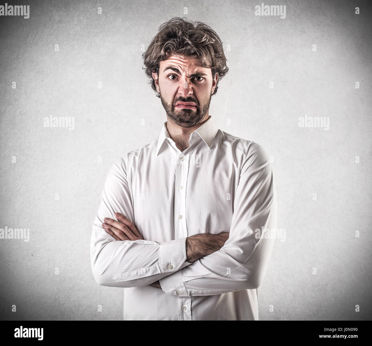 Doubtful businessman - Stock Image