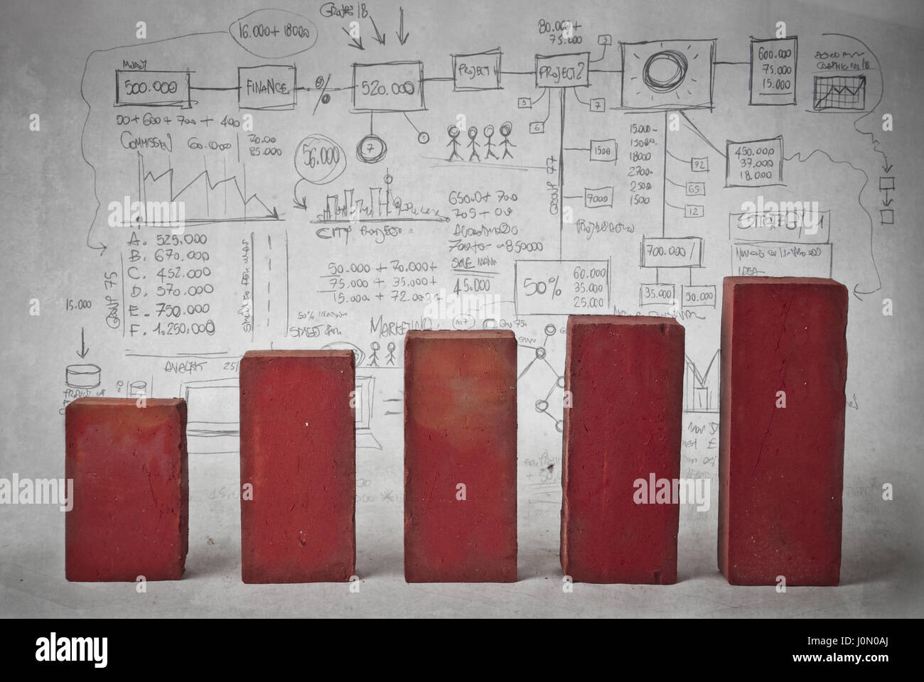 Statistic and business plans - Stock Image