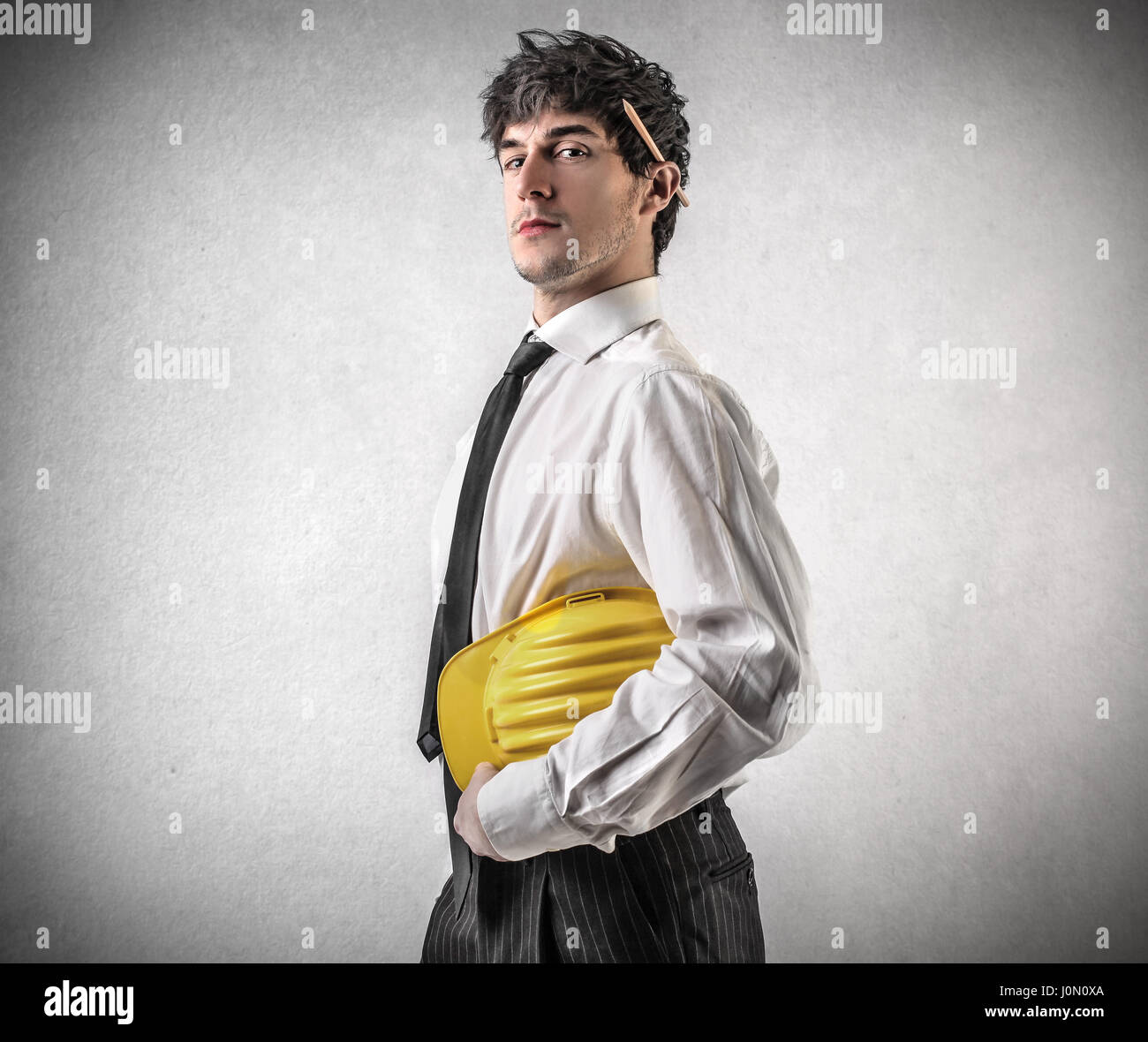 Confident construction worker - Stock Image