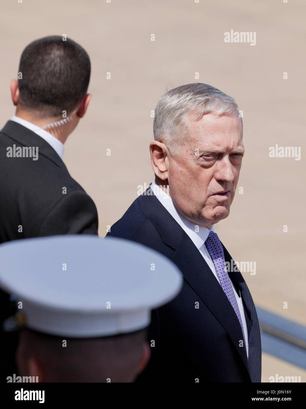 US Defense Secretary Jim Mattis at the Pentagon - Washington, DC USA - Stock Image