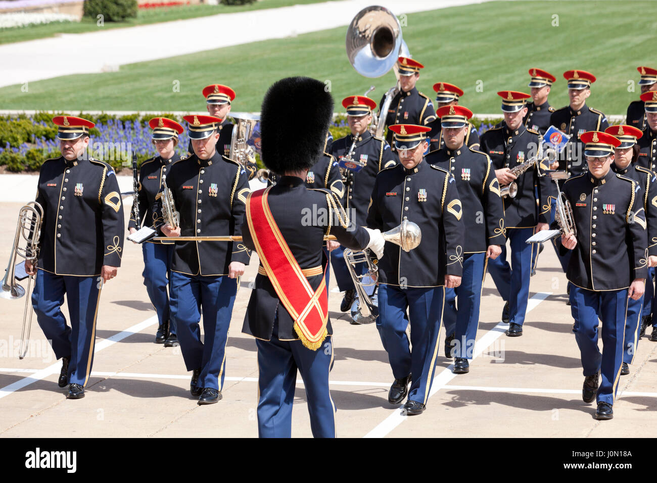 US Air Force (USAF) Band performs at the Pentagon - Washington, DC USA - Stock Image