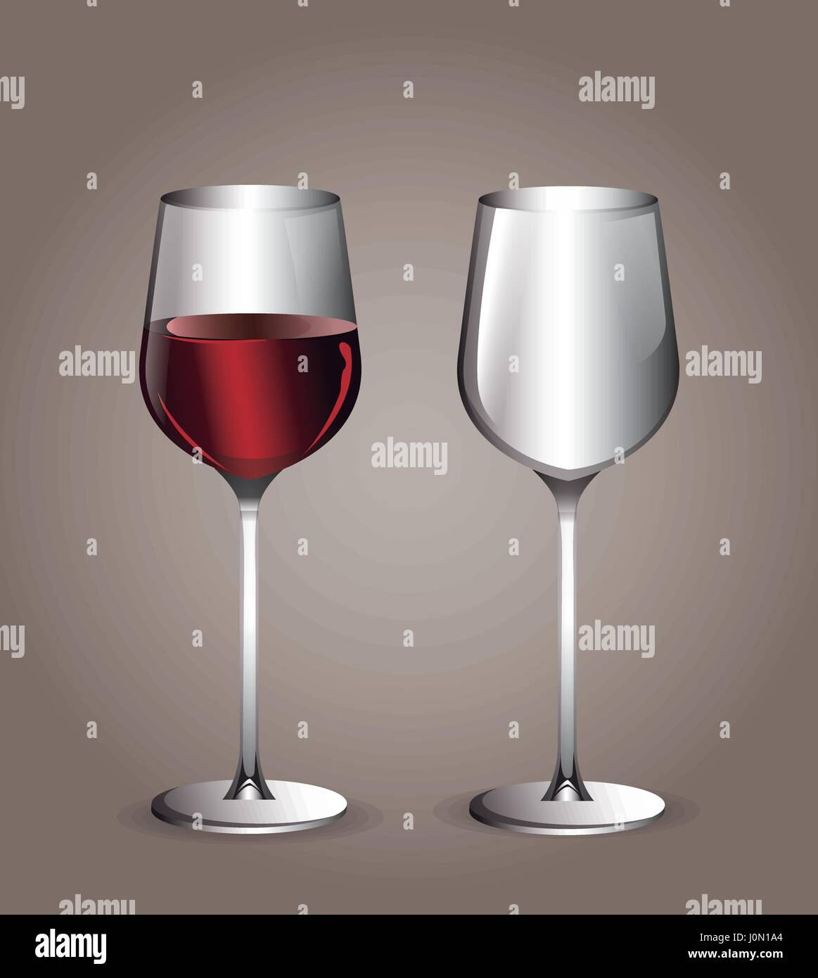 glass cup wine transparent image - Stock Image