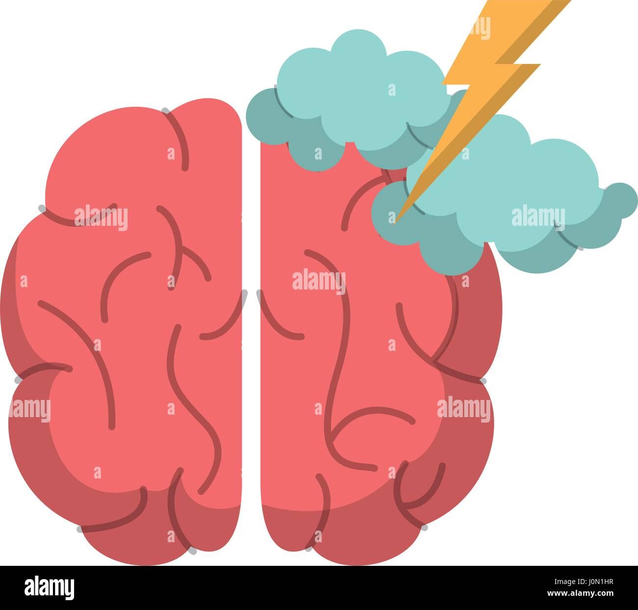 brain creativity storm ideas - Stock Image