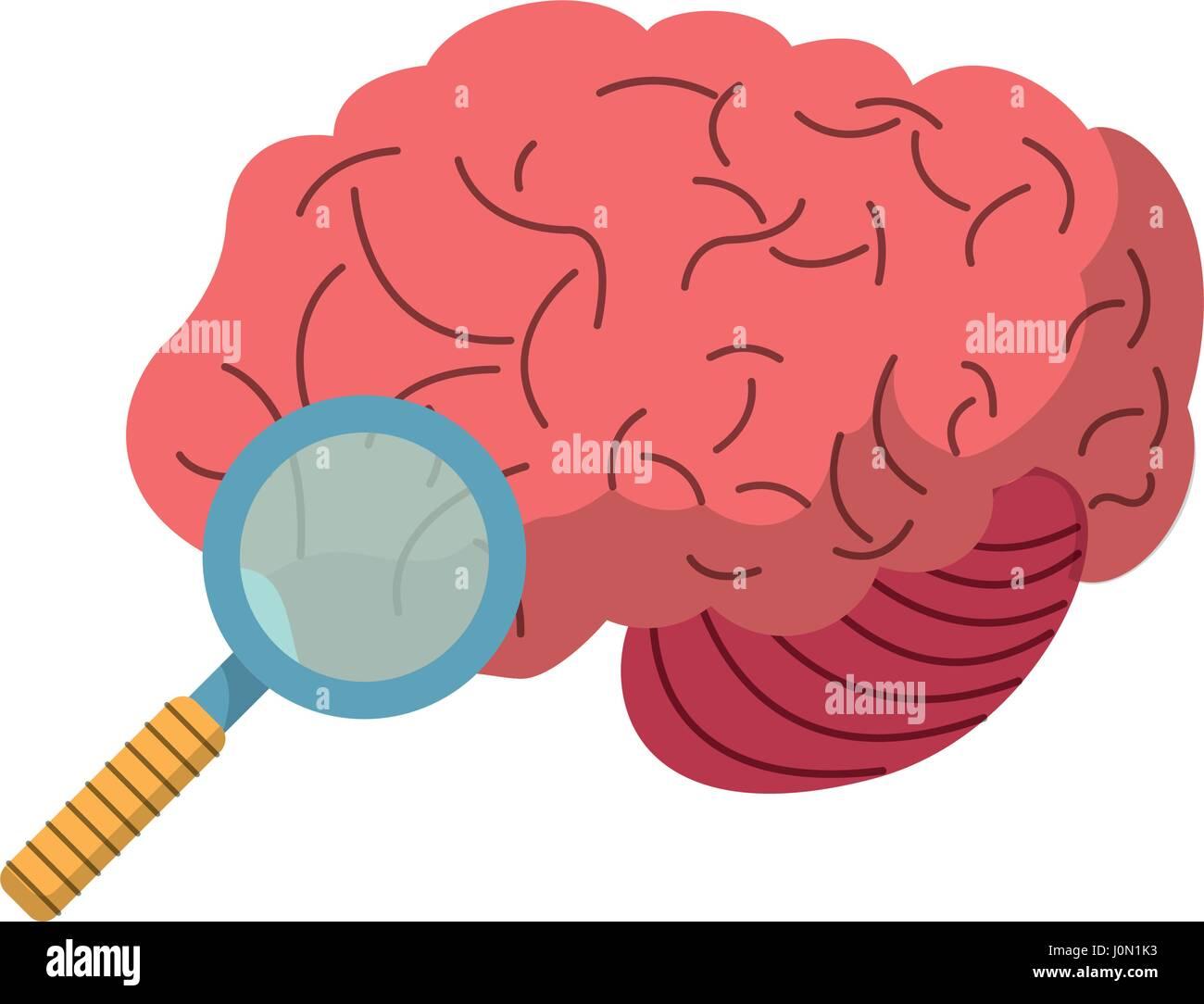 brain search find creativity image - Stock Image