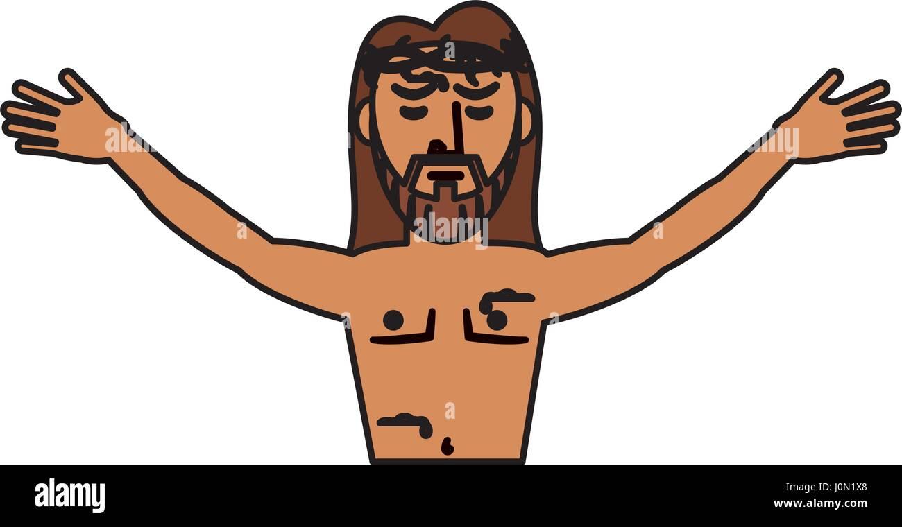 jesus christ belief catholic - Stock Image
