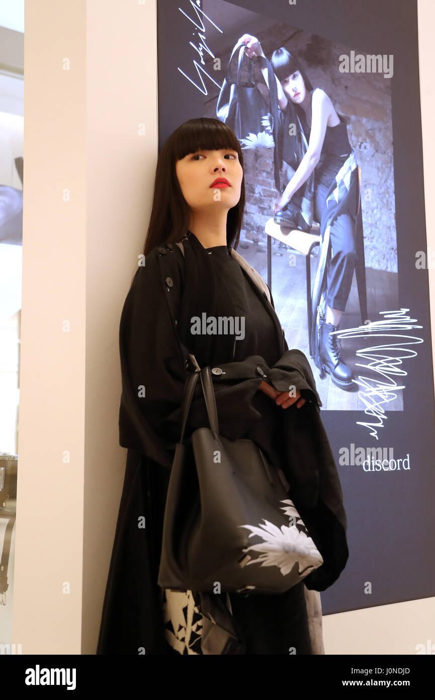 Tokyo Japan 14th Apr 2017 Japanese Model Kozue Akimoto