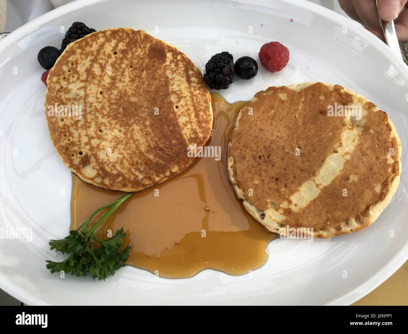 Maple Pancakes - Stock Image