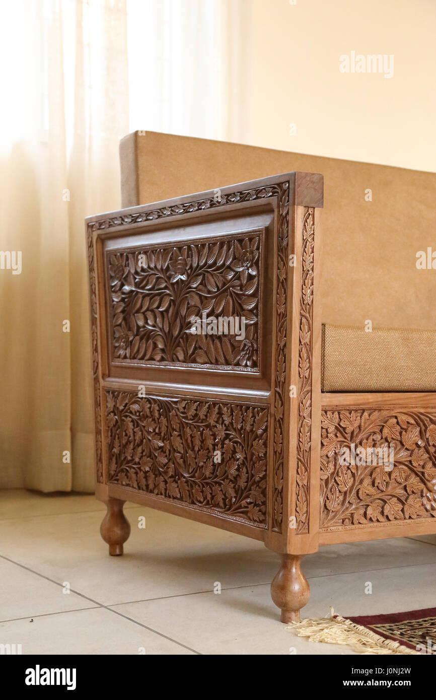 Wooden carved furniture handmade