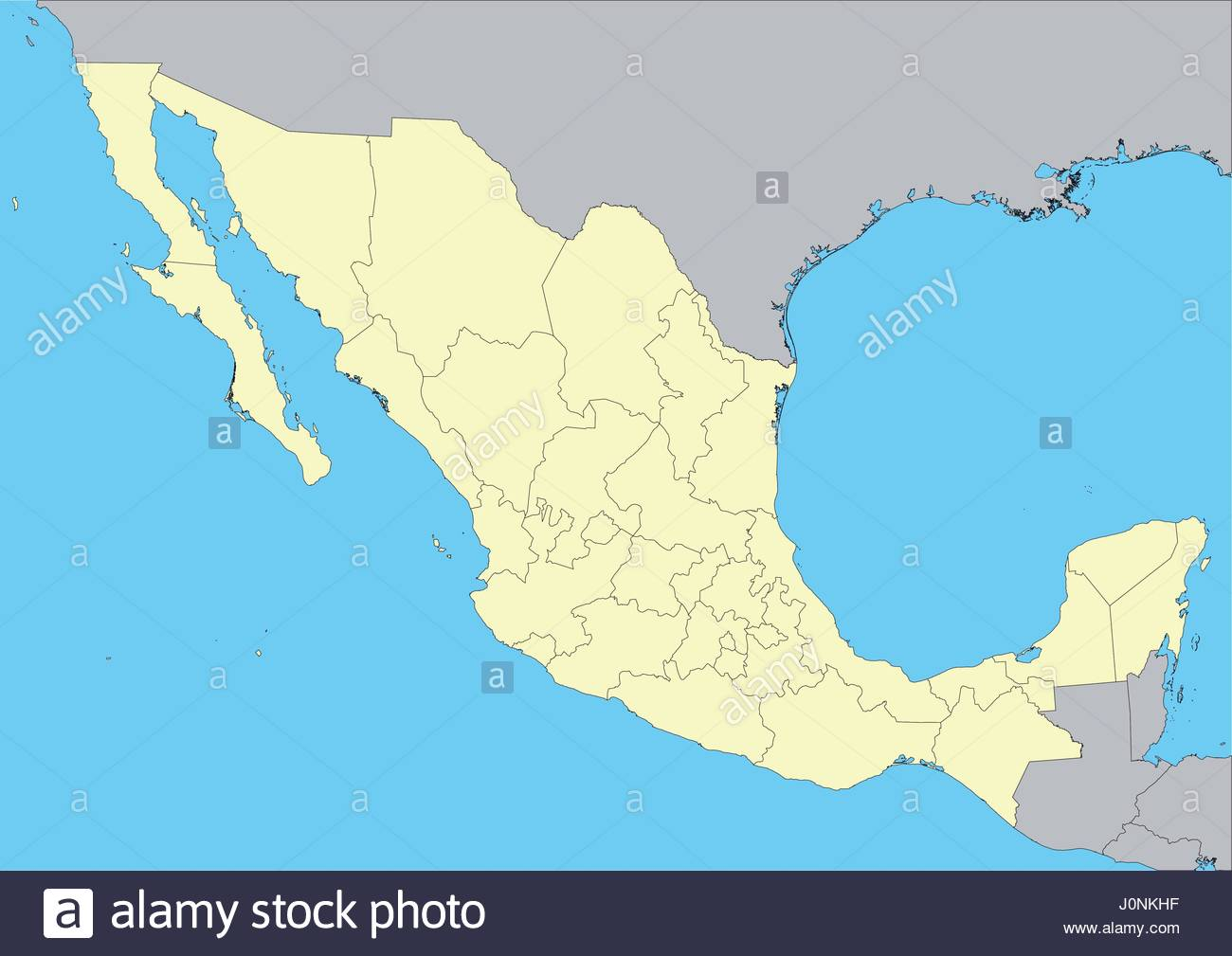 High Detailed Vector Map Of Mexico With States File Easy To Edit