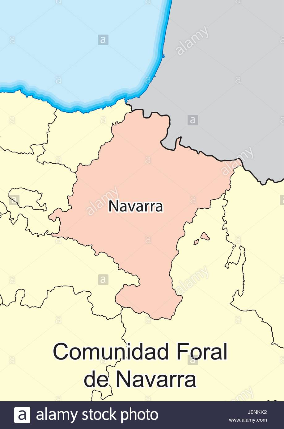 Map Of Spain Navarra.Vector Map Of Chartered Community Of Navarre Comunidad Foral De