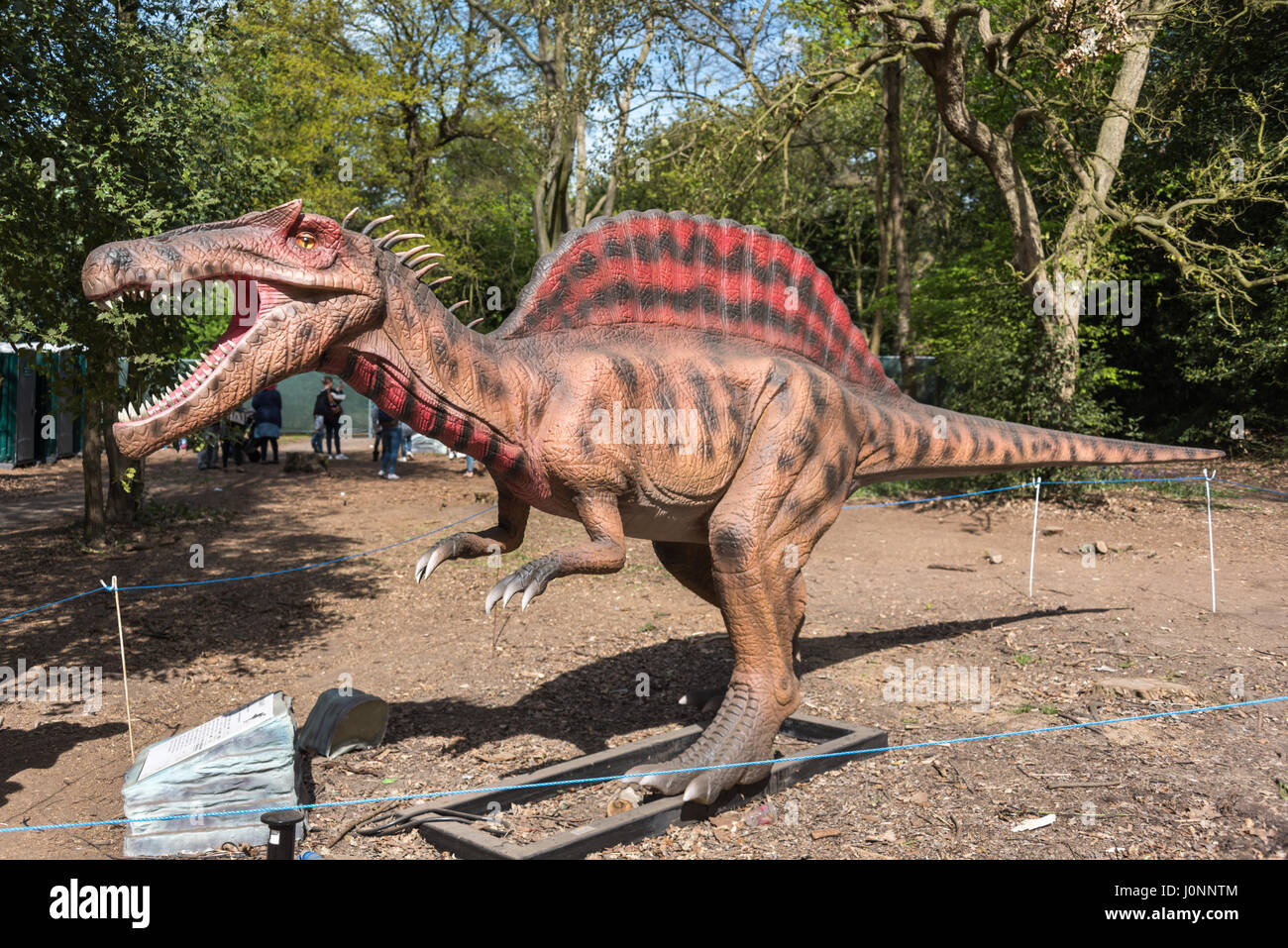 Spinosaurus, Jurassic Kingdom, Osterley Park, London - Stock Image