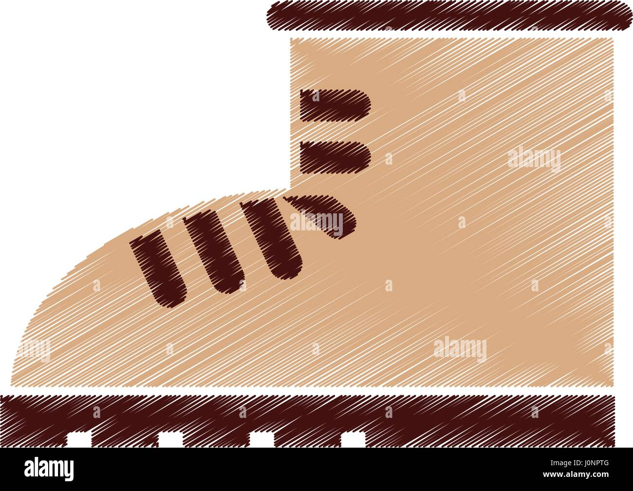 boot construction shoe icon Stock Vector