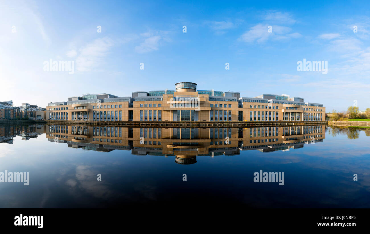 Exterior view of Victoria Quay offices of the Scottish Government in Leith, Edinburgh, Scotland, United Kingdom. - Stock Image