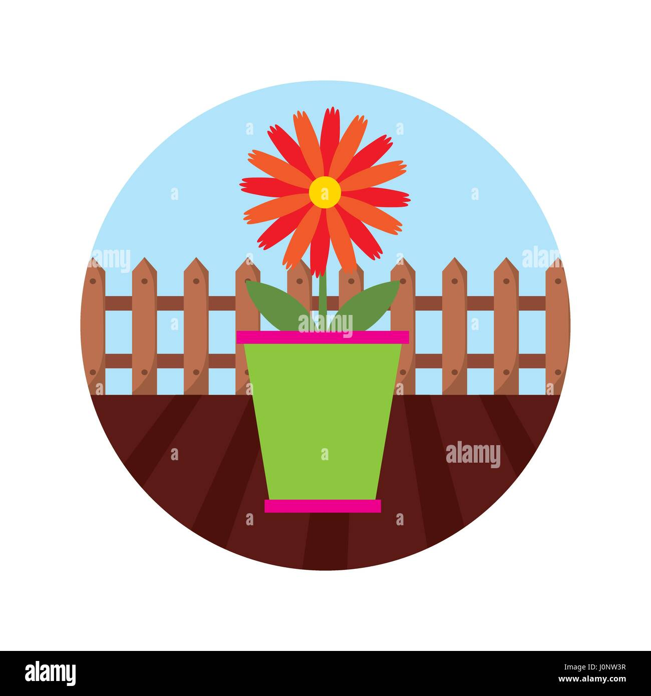 Cartoon daisy flower image cut out stock images pictures alamy cartoon daisy flower image htgc61 rf beautiful garden flat icons stock image izmirmasajfo