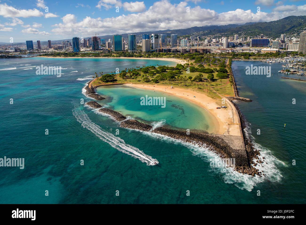 Ala Moana Beach Park Magic Island Hawaii