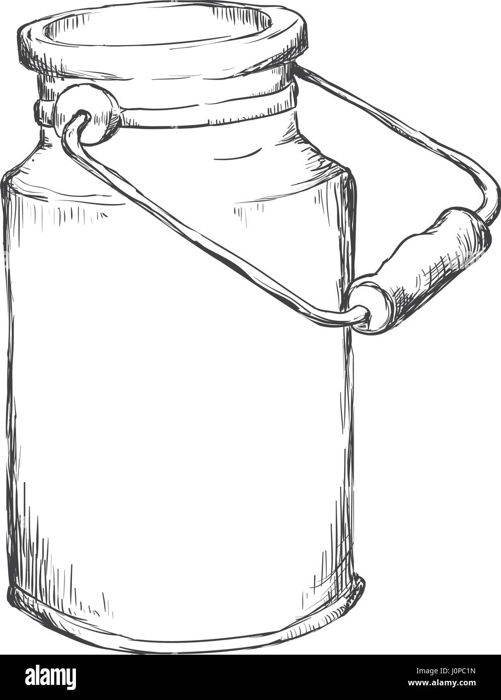 Milk can container - Stock Image