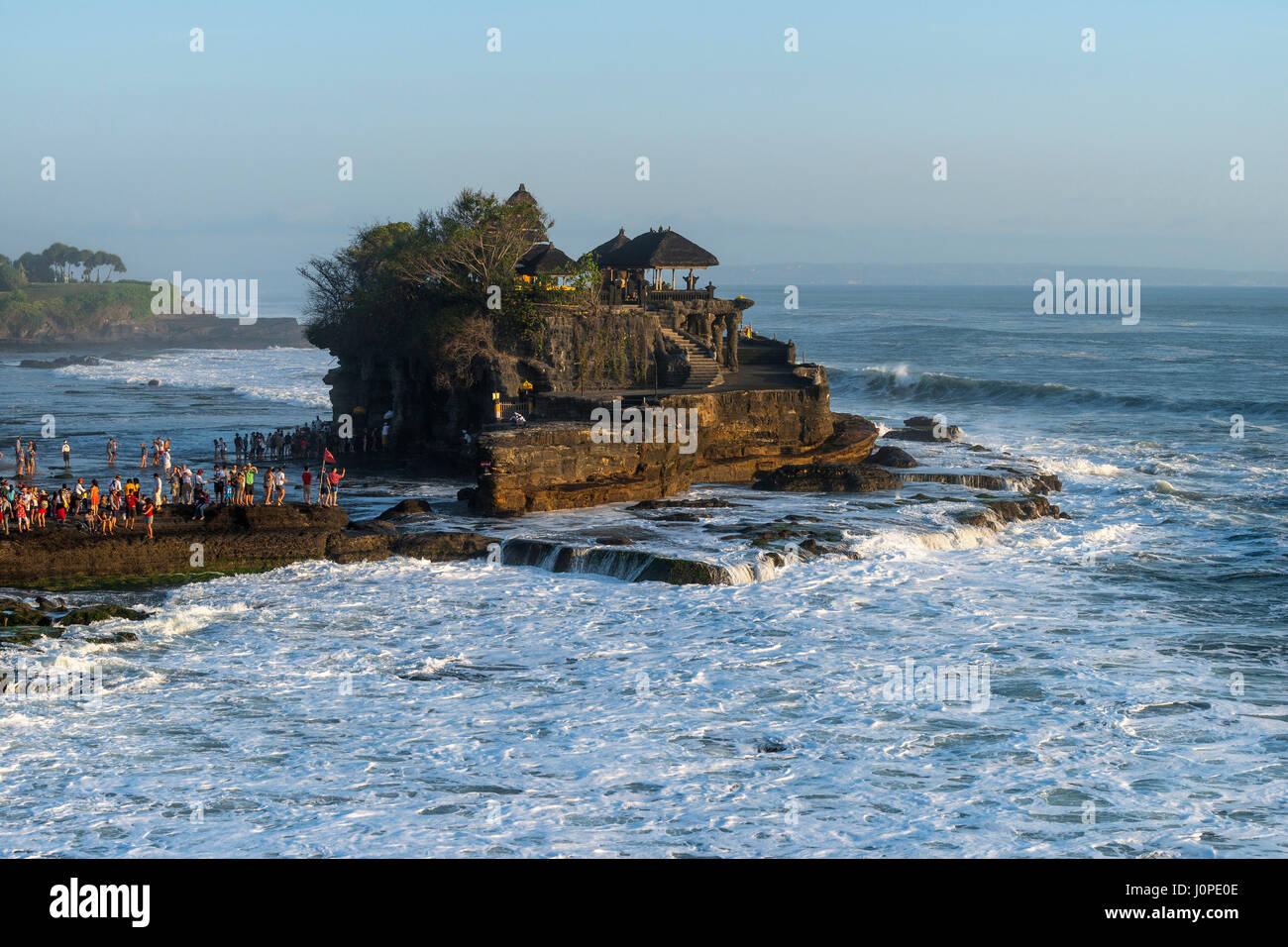 Pilgimage Temple Pura Tanah Lot, Bali, Indonesia - Stock Image