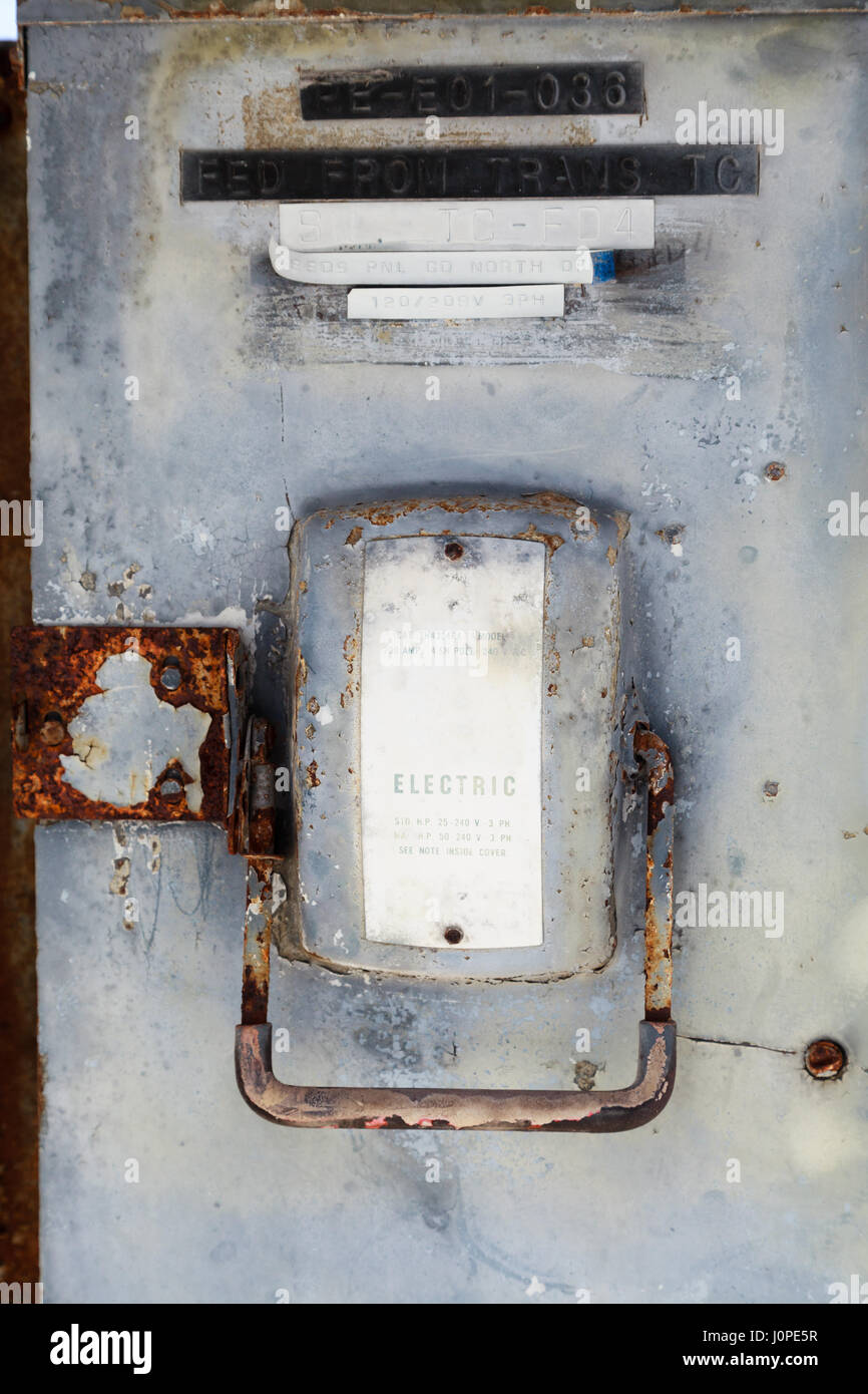 Old Electrical Fuse Box Stock Photos & Old Electrical Fuse Box Stock ...