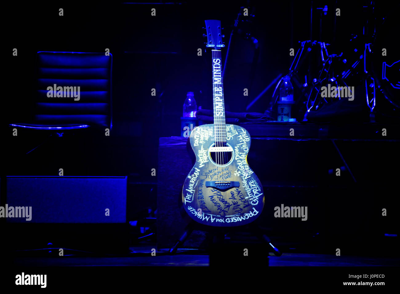Simple Minds live in Concert, Hamburg, Germany - Stock Image