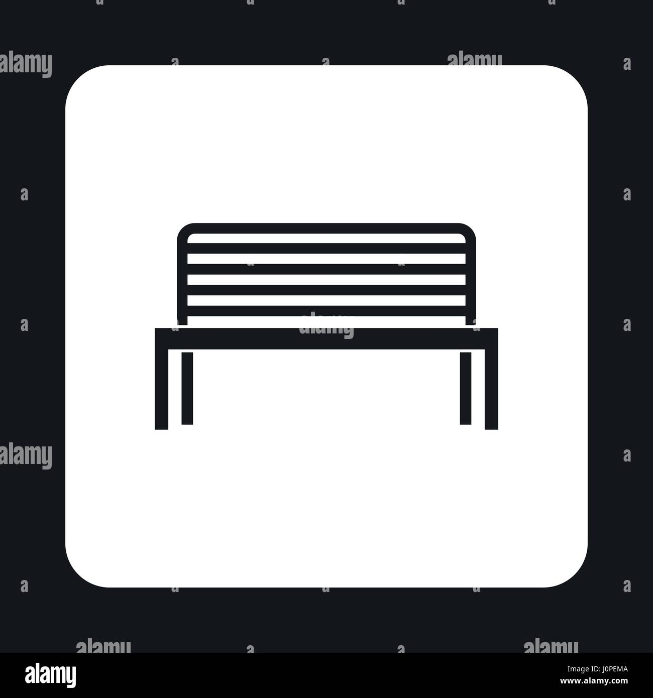 Bench icon in simple style Stock Vector